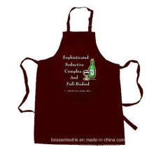 OEM Produce personalizado a medida de algodón de color marrón personalizadas logotipo impreso cojín de cocina delantal