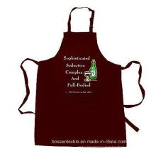 OEM Produce Custom Made Promotional Cotton Brown Customized Logo Printed Cooking Bib Apron
