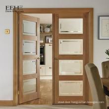 Interior Swing Door with Glass for Bedroom in Pakistan
