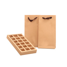 Recycle Kraft Foldable Tea Packaging Box med divider