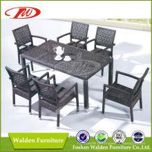 Móveis de vime, mesa de jardim, cadeira de lazer (DH-6121)