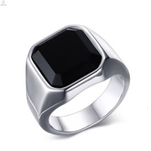 Anillos de plata de la piedra grande del dedo de acero inoxidable de la moda