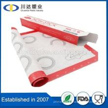 El sistema de la hornada del silicón del precio al por mayor La esterilla antiadherente de la hornada del silicón de 420 * 295m m resistente al calor del grado alimenticio