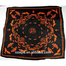 New arrival christian cross printed square scarf