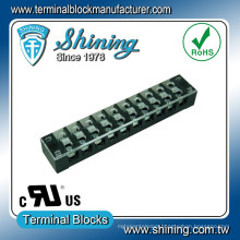 TB-33510CP Panel Mounted Barrier 35A 300V 10 Pin Terminal Block