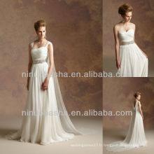 J-033 Robe de mariée en mousseline de soie 2012 Robe de mariée