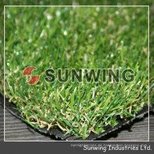 Haustier kein Schaden 25mm dekoratives Gras-synthetisches Gras für Hochzeitsplatz