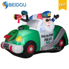 Décoration de Noël Sleigh Inflatable Cartoon Character Lighting Christmas Train