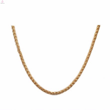 Wholesale Stainless Steel 7Mm Gold Flower Basket Chains Necklace