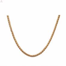 Оптовая нержавеющей стали 7 мм золото цветочные корзины цепи ожерелье