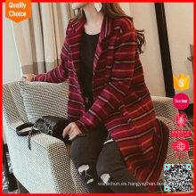 Mujeres 'v-cuello diseño de la rebeca de manga larga de la mano tejiendo suéteres