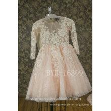 2017 neue Spitze Appliqued Blumen-Mädchen-Kleid Tulle Kind-Hochzeits-Kleid mit bestem Preis