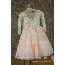 2017 New Lace Appliqued Flower Girls Dress Tulle Kid Wedding Dress With Best Price