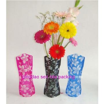 Personalizar los floreros plegables plásticos de la flor