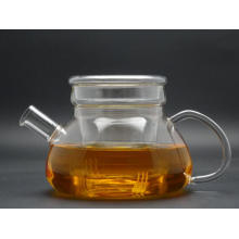 Tested Large Manufacturer 85mm Diameter Glass Teapot with Infuser
