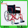 Chaise roulante en acier portable portable