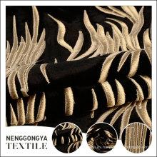 Tela de tapicería italiana del terciopelo de la alta calidad del bordado del estilo de encargo