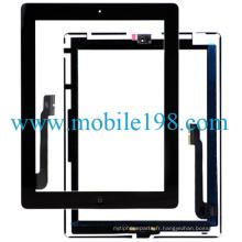 Digitizer d'écran tactile d'OEM pour des pièces de rechange noires d'iPad 4