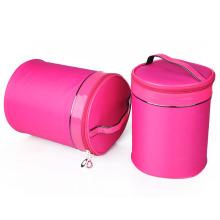 Woman Fashion Nylon Barrel Tote Cosmetic Makeup Beauty Case (YKY7541)