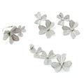 Collection de fleurs en gros Bijoux Mode femme AAA CZ 925 Silver Set (S3304)