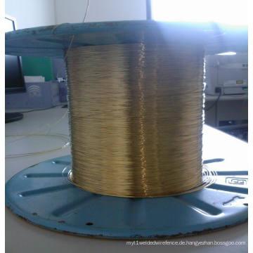 0,28mm Messing beschichteter Stahldraht zum gewebten Kohle-Industrie-Schlauch