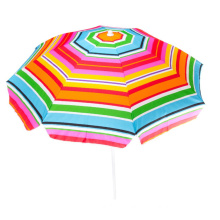 Sea parasol with carry bag rainbow straw twist-in beach umbrella for outdoor