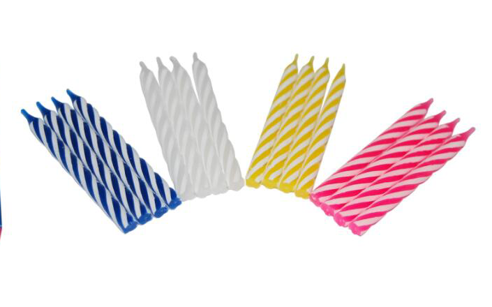 2 Color Spiral Birthday Candle