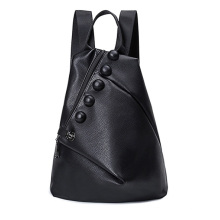 Black Ladies PU Backpack with Multi-Function and Superior Workmanship