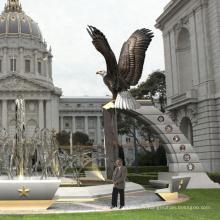 grand jardin décorations d'extérieur en métal artisanat Statues d'aigles