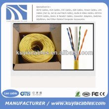 1000 pies CCA CAT6 sólida UTP Ethernet a granel cable de red cable