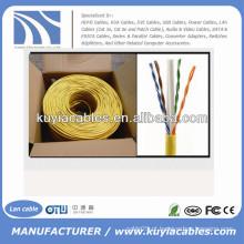 1000 Ft CCA CAT6 Sólido UTP Ethernet cabo de rede de cabo em massa