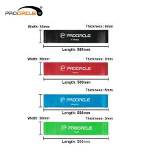 ProCircle Double Color Gymnastics Cross Fitness tira bandas de resistencia