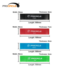 ProCircle Double Color Gymnastics Cross Fitness Pull Up Resistance Loop Bands
