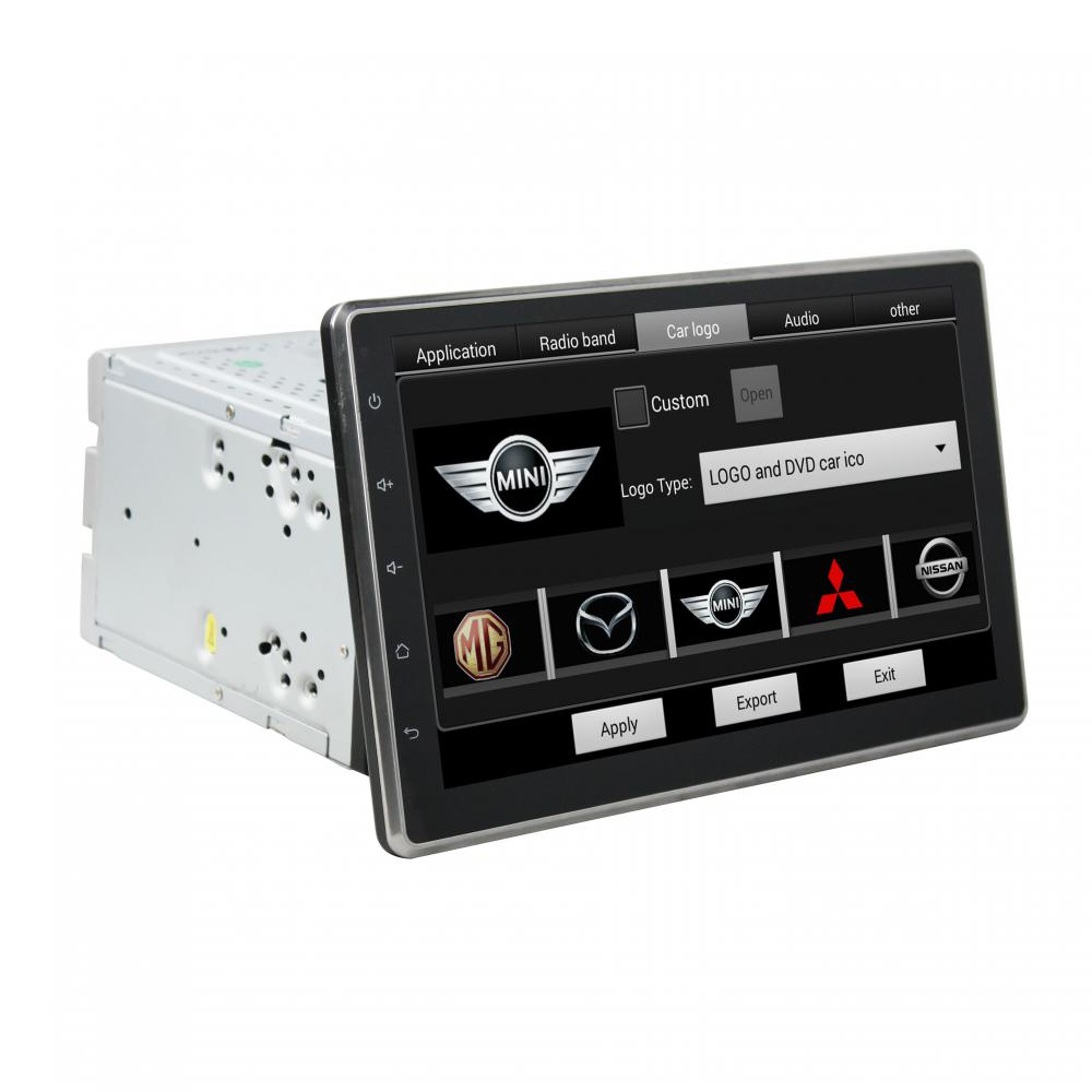 Universal car DVD player for deckless