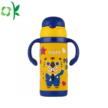 Silicone Cartoon Design Duurzame mouw thermosfles mouw