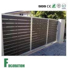 Porta e cerca exteriores resistentes da cerca do jardim WPC do tempo