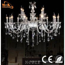 Luxo grande casamento sala luz cristal LED candelabro