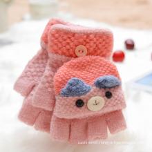 Wholesale Children Warmer Bear Glove Kids Cute Bear Cartoon Knit Glove