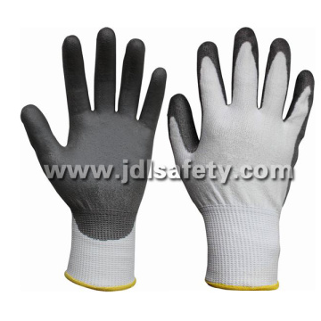 White Cut Resistant Work Glove with PU Coating (PD8044)
