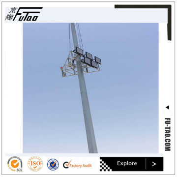 40M Galvanized Auto-Lifting High Mast Lighting Stadium