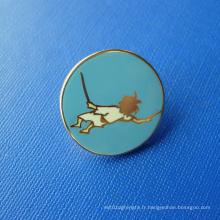 Goupille en émail émaillée plaqué or, badge personnalisé (GZHY-SE-036)