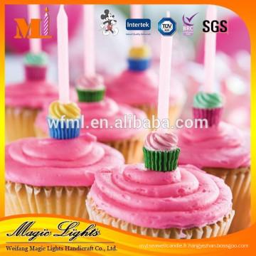 Propres bougies uniques de gâteau d'anniversaire de conception de haute qualité