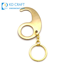 New Design Wholesale Hygiene Hand Hygienic Tool Germ Free Hand No Contact Contactless Hands Free Brass Door Opener Keychain