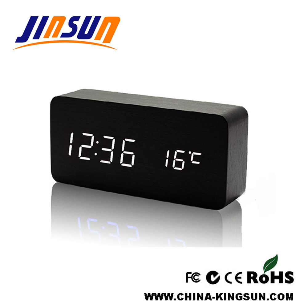 Led Alarm Clock with Temperature Display