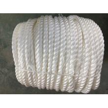 Corde d'amarrage de corde de polypropylène de corde de polypropylène de corde de corde de cordes d'amarrage de 3 brins