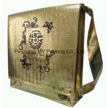 Genehmigte Hersteller-Gold lamellierte pp. Nicht gesponnene Einkaufstasche