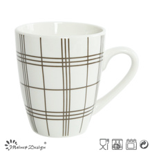 10oz Porcelain with Decal Checked Coffee Mug