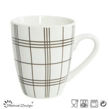 10 oz de porcelana con etiqueta de café taza