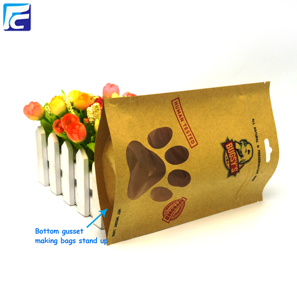 Wholesale Brown Kraft Paper Bag dog food Bag