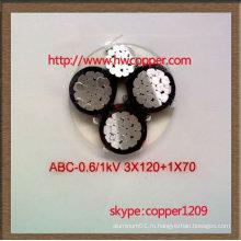 Профессиональный изоляционный кабель ABC с изоляцией из сшитого полиэтилена